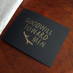 Shanna Murray Gold Black Holiday Card 300x300 {today I love... holiday decals by Shanna Murray}
