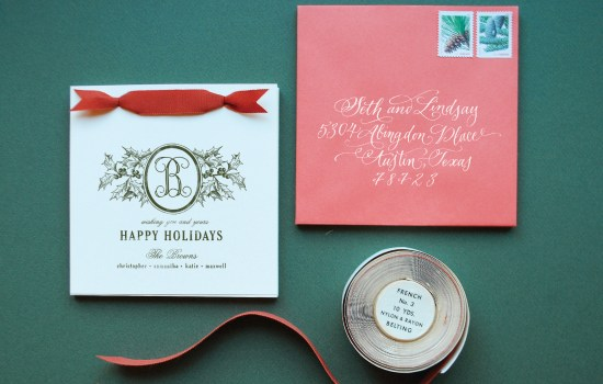 holiday11 DIY Tutorial: Rubber Stamp Holiday Cards