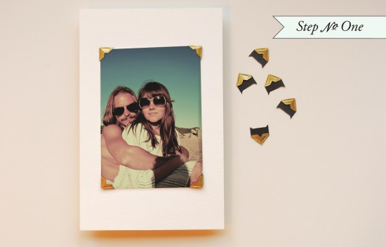 photo step1 550x352 DIY Tutorial: Rubber Stamp Photo Card Save the Dates