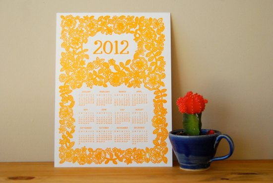 Katharine Watson Woodblock Calendar 550x368 2012 Calendar Round Up, Part 10
