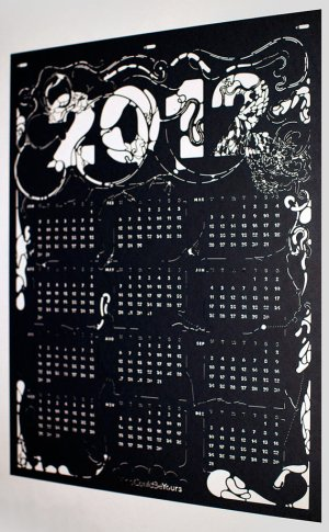 Nando Costa Laser Cut Calendar 300x485 2012 Calendar Round Up, Part 10