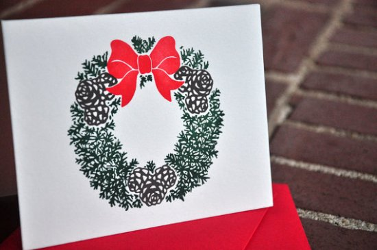 Palmetto Press Wreath Holiday Card 550x365 2011 Holiday Card Round Up, Part 12