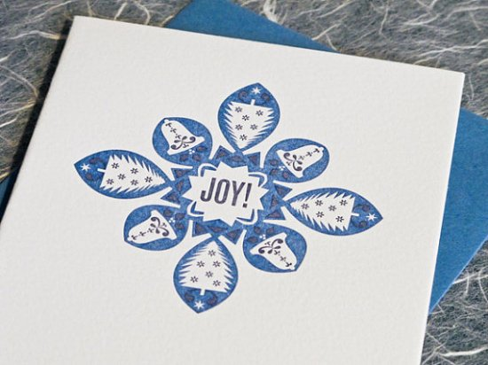 Pressbound Letterpress Holiday Cards 550x412 2011 Holiday Card Round Up, Part 12