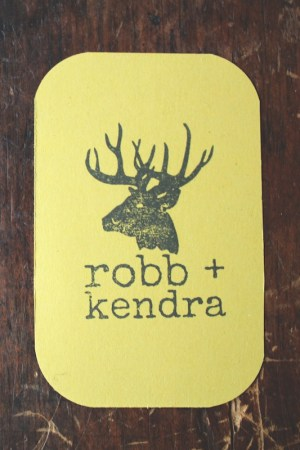 Rustic Woodsy Faux Bois Wedding Invitations La Happy Stamp 300x450 Kendra + Robbs Rustic Woodgrain Wedding Invitations