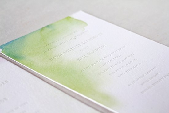 Watercolor Letterpress Wedding Invitations Oh Happy Day Jordan Ferney 550x366 Best of 2011: Watercolor