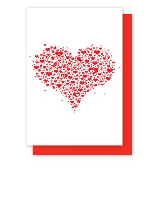 Enormous Champion Valentine Heart Card 300x399 Seasonal Stationery: Valentines Day Cards