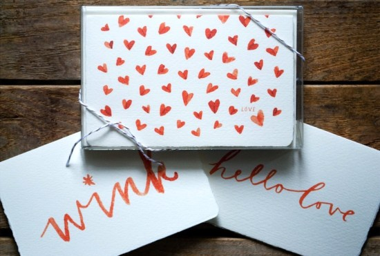 Kathryn Whyte Valentines Day Cards1 550x371 Seasonal Stationery: Valentines Day Cards, Part 2