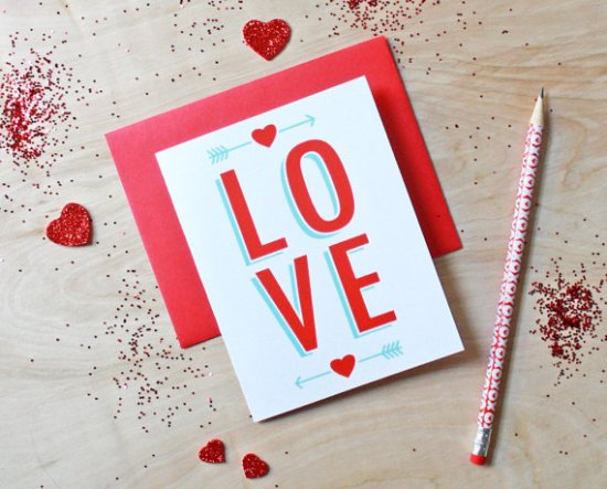 Sass and Peril Valentines Day Love 550x443 Seasonal Stationery: Valentines Day Cards