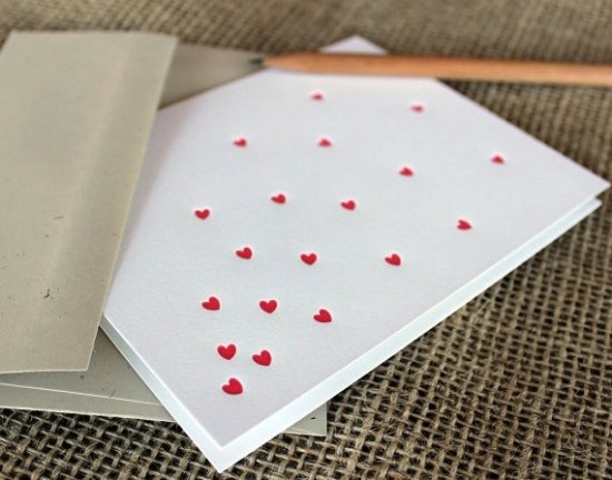 Shortgrass Designs Heart Valentines Day Card 550x432 Seasonal Stationery: Valentines Day Cards, Part 3