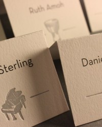 Unique Non Traditional Letterpress Escort Cards by Ladyfingers Letterpress