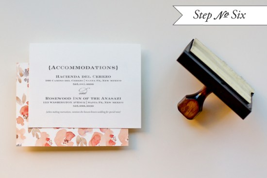 step6a 550x366 DIY Tutorial: Watercolor Floral Pattern Wedding Invitations