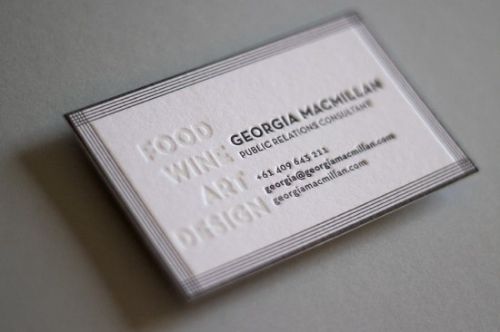 Hungry Workshop Black White Letterpress Business Card 550x366 Business Card Ideas and Inspiration #12