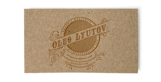 Oleg Lyutov chipboard letterpress business card Business Card Ideas and Inspiration #12
