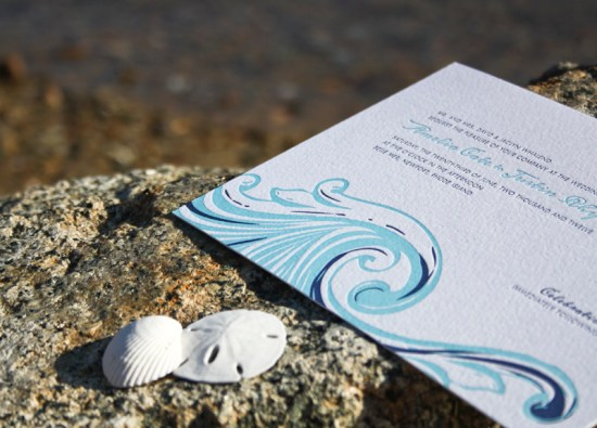 Smudge Ink Wedding Invitations Tides 550x395 Wedding Invitations by Smudge Ink