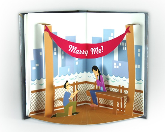 Paper Pop Up Engagement Proposal Jackie Huang6 A Paper Marriage Proposal Pop Up Book