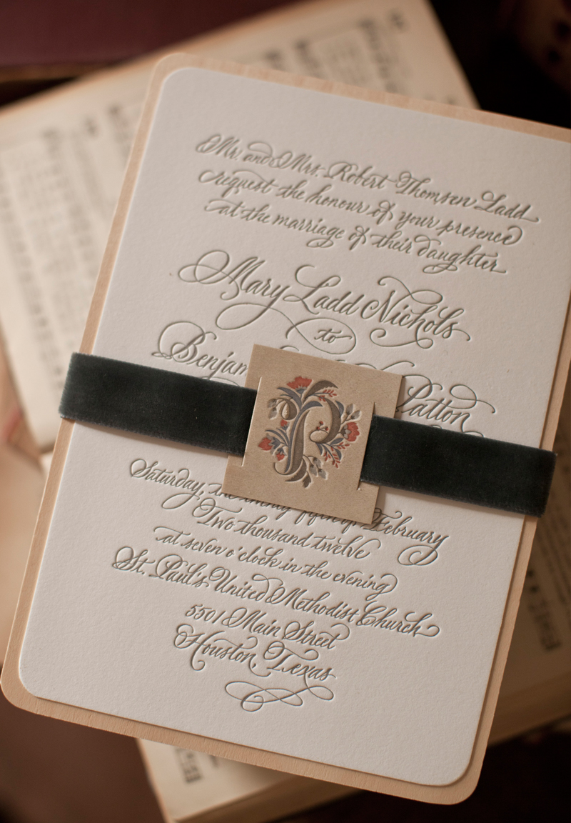 Astonishing For Mary Rustic Letterpress Wedding Invitations Wedding Invitations Reviews Wedding Invitations Pinterest wedding Elegant Wedding Invitations