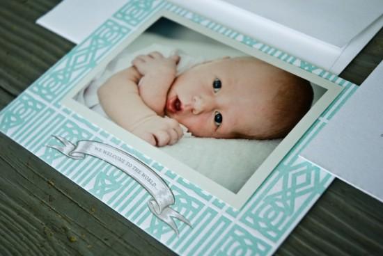 Southern Classic Monogram Letterpress Birth Announcements2 550x368 Classic Monogram Birth Announcements for Baby Rhett