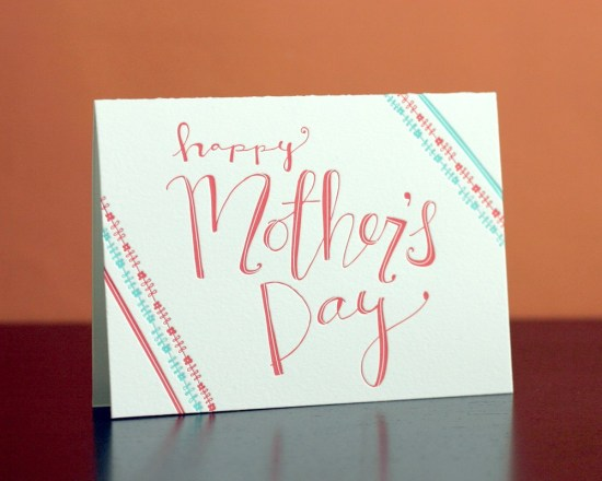 happy mothers Day letterpresscard springolive 550x440 Seasonal Stationery: Mothers Day Cards
