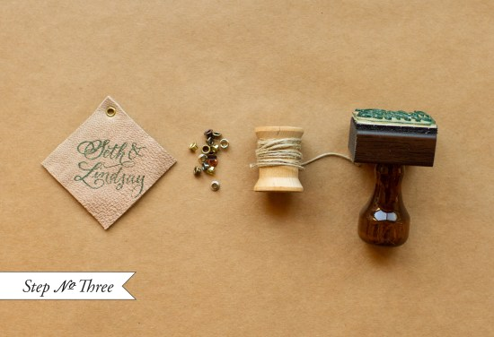 step3 550x376 DIY Tutorial: Rubber Stamp Equestrian Wedding Invitations