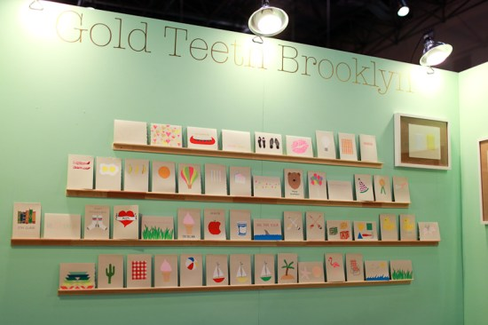 NSS 2012 Gold Teeth Brooklyn 1 550x366 National Stationery Show 2012, Part 11