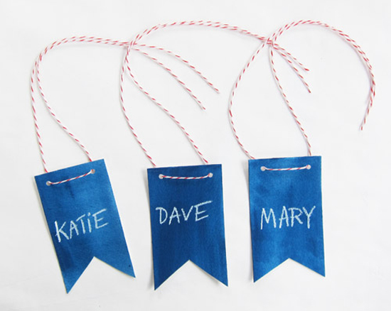 DIY Patriotic Flag Name Tags Scouts Honor Co Wedding Stationery Inspiration: Fourth of July