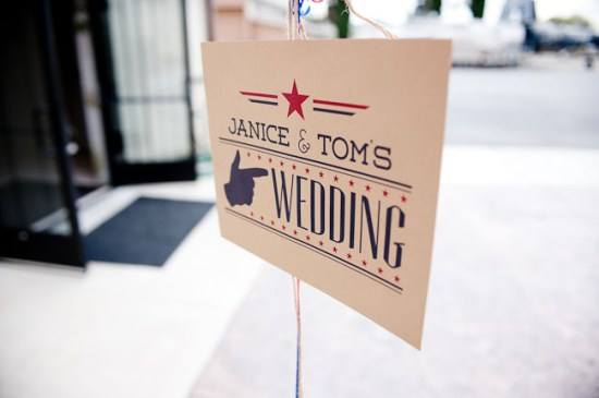 Fourth of July Wedding Sign Brady Puryear 550x365 Wedding Stationery Inspiration: Fourth of July