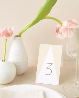 Printable Triangle Table Numbers 300x375 Wedding Stationery Inspiraton: Geometric
