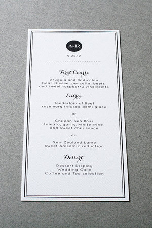 Simple Black and White Wedding Menu Crafty Pie Press1 Wedding Stationery Inspiration: Black + White Stripes