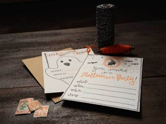 Halloween Party Invitations 9th Letter Press5 550x412 Letterpress Halloween Party Invitations