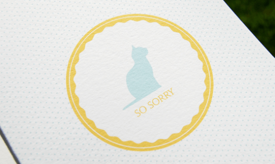 cat sympathycard 550x329 Stationery A – Z: Pet Sympathy Cards