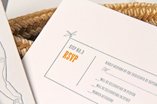 Letterpress Wedding Invitations Clutch Design6 550x366 Jenny + Marks Tie the Knot Letterpress Wedding Invitations