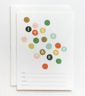 inv dots lines 300x340 Stationery A – Z: General Party Invitations