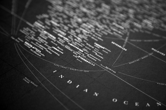 Design Ahoy Black Letterpress Typography Map2 550x367 Quick Pick: Design Ahoy