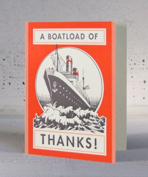 Hammerpress Boatload of Thanks 300x360 Stationery A – Z: Thank You Cards