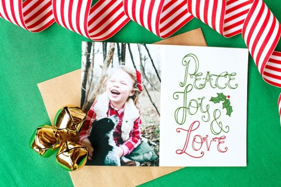 Lemon Lavender Holiday Photo Card2 550x366 Seasonal Stationery: Holiday Photo Cards