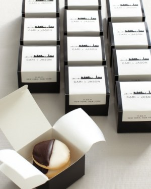 Modern Skyline Wedding Favor Labels Hello Lucky Charlotte Jenks Lewis Photography 300x375 Day of Wedding Stationery: Favor Tags + Labels