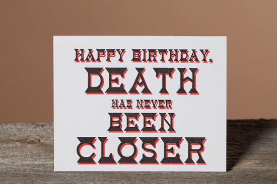 Wishbone Letterpress Snarky Birthday Card 550x366 Stationery A – Z: Snarky Birthday Cards