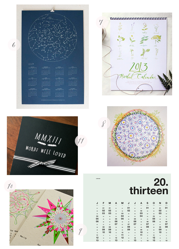 2013 Calendars Part7 Seasonal Stationery: 2013 Calendars, Part 5