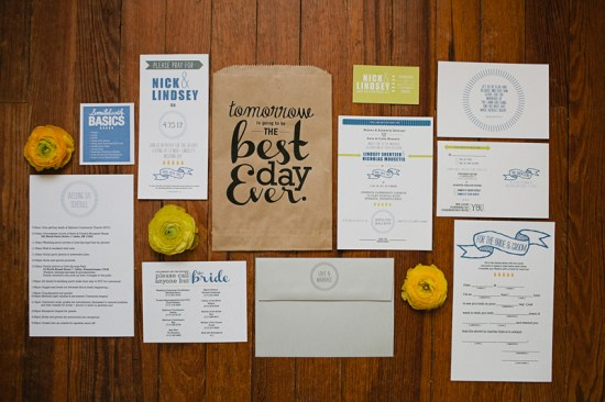 Creative Wedding Rehearsal Dinner Invitations2 550x366 Best of 2012: Nick + Lindseys Creative Rehearsal Dinner Invitations