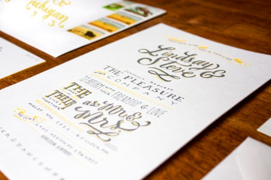 Yellow Gray Hand Lettered Wedding Invitations Molly Jacques4 550x366 Best of 2012: Lindsays Hand Lettered Wedding Invitations