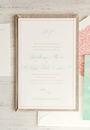 Bahamas Wedding Invitation Atheneum Creative 300x432 Stephanie + Treys Coral and Aqua Destination Wedding Invitations