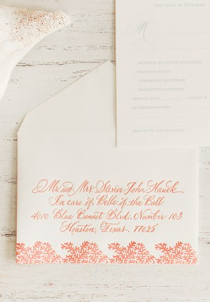 Bahamas Wedding Invitation Atheneum Creative2 300x432 Stephanie + Treys Coral and Aqua Destination Wedding Invitations