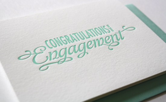 Engagement Congratulations Card 550x337 Stationery A – Z: Engagement Congratulations Cards