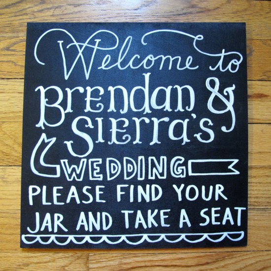 Green Hand Lettered Wedding Invitations Jesse Wells6 550x550 Sierra + Brendans Hand Lettered Wedding Invitations