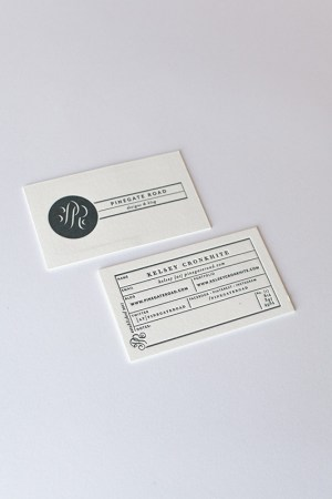 Modern Black and White Business Cards Kelsey Cronkhite2 300x450 Kelseys Modern Hand Lettered Black + White Business Collateral