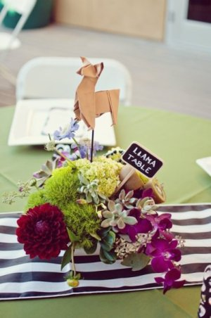 Origami Table Numbers Brushfire Photography 300x452 Wedding Stationery Inspiration: Animal Motifs