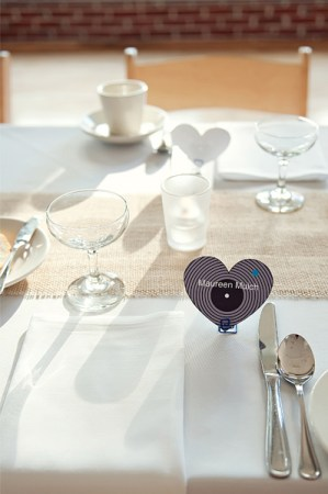 DIY Heart Place Cards Untamed Heart Photography 300x452 Wedding Stationery Inspiration: Hearts