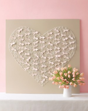 DIY String Heart Escort Cards Johnny Miller 300x375 Wedding Stationery Inspiration: Hearts