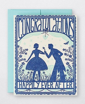 Hello Lucky Wedding Congratulations Card 300x367 Stationery A – Z: Engagement Congratulations Cards
