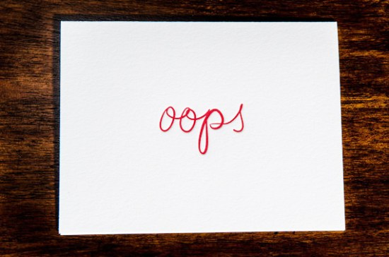 Ink Meets Paper Oops Card 550x364 Stationery A – Z: Apology Cards